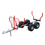 """Timber trailer (2-axle) """"IB 1000"""", extendable lenght, basic KIT without extras  Artikelnr: 23.0000  Fabrikant:IRON BALTIC"""