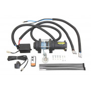 """Optional extra: Electric winch KIT for timber trailer """"IB 1000"""" crane (brackets, wiring + Bronco 2500lbs winch) – not incl in an"""