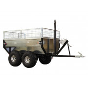 "Cargo trailer ""ECO 1000"" (new version, with Zn coated cargo box and extender cage)