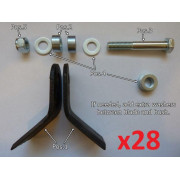 Mower wear parts: FULL KIT Y-blades (56pcs + bolts, nuts, bushes)| Artikelnr: 27.026| Fabrikant:IRON BALTIC