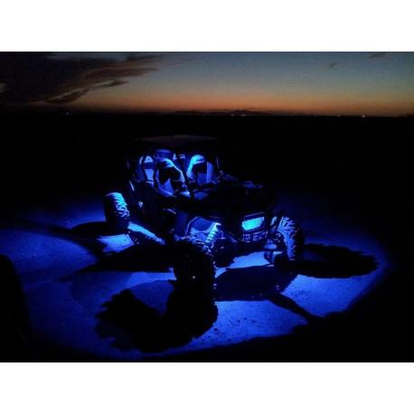 SHARK LED Rock Light,3 inc x2 inch,3W,Multi-Color,Bluetooth Control,4 pcs Set