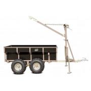 Aanhangwagen kipper mulitfunctioneel voor de ATV of UTV. Wood-1500