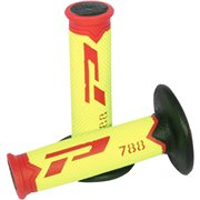 GRIPS TRIPLE DENSITY OFFROAD 788 CLOSED END RED/FLUO YELLOW/BLACK / PA078800RGFN