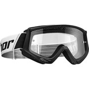 COMBAT OFFROAD GOGGLES BLACK/WHITE ONE SIZE / 2601-2075