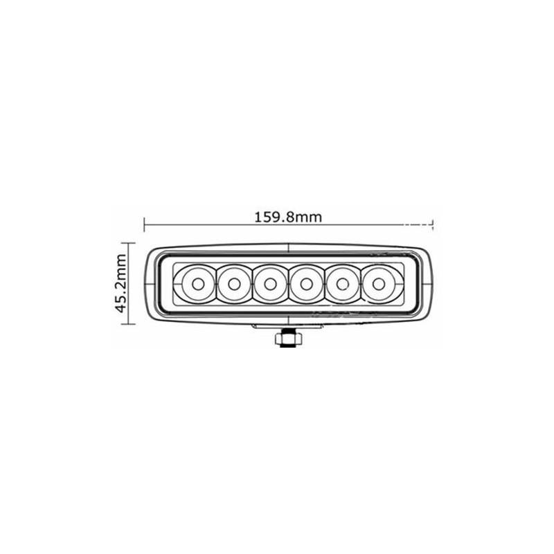 extreme led 18w mini lightbar 160 43 63mm  1150 lumens