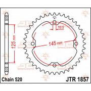 JT SPROCKETS | JTR1857.38 REAR REPLACEMENT SPROCKET / 38 TEETH / 520 PITCH / NATURAL / C49 HIGH CARBON STEEL | Artikelcode: JTR1