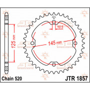 SPROCKET REAR 38T 520 | Fabrikantcode: JTR1857.38 | Fabrikant: JT SPROCKETS | Cataloguscode: 1210-0025