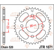SPROCKET REAR 30T 520 | Fabrikantcode: JTR1071.30 | Fabrikant: JT SPROCKETS | Cataloguscode: 1210-0670