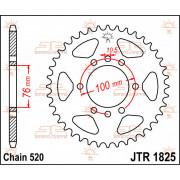 SPROCKET REAR 42T 520 | Fabrikantcode: JTR1825.42 | Fabrikant: JT SPROCKETS | Cataloguscode: 1210-0704