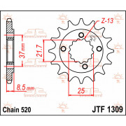 SPROCKET FRONT 13T 520 | Fabrikantcode: JTF1309.13 | Fabrikant: JT SPROCKETS | Cataloguscode: 1212-0308