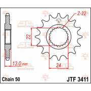 SPROCKET FRONT 16T 530 | Fabrikantcode: JTF3411.16 | Fabrikant: JT SPROCKETS | Cataloguscode: 1212-0309
