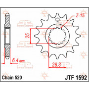 SPROCKET FRONT 14T 520 | Fabrikantcode: JTF1592.14 | Fabrikant: JT SPROCKETS | Cataloguscode: 1212-0662