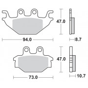 Remblokken TGB 550 Blade 09-10 vooraan.