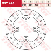 BRAKE DISC TRW MST413| Artikelnr: 17110826