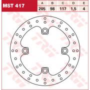 BRAKE DISC TRW MST417| Artikelnr: 17110830