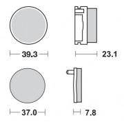 MM BRAKEPAD YAMAHA | Fabrikantcode: 92511 | Fabrikant: MOTO-MASTER | Cataloguscode: 1721-1698