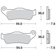 MOTOMASTER BRAKEPAD NITRO | Fabrikantcode: 93021 | Fabrikant: MOTO-MASTER | Cataloguscode: 1721-1865