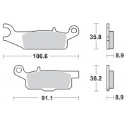 BRAKE PAD SINTER ATV NITR | Fabrikantcode: 96121 | Fabrikant: MOTO-MASTER | Cataloguscode: 1721-2114
