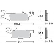 Motomaster Brakepad 0961 | Fabrikantcode: 96121 | Fabrikant: MOTO-MASTER | Cataloguscode: 1721-2114