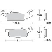 Motomaster Brakepad 0962 | Fabrikantcode: 96221 | Fabrikant: MOTO-MASTER | Cataloguscode: 1721-2115
