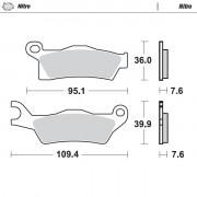 Motomaster Brakepad 0988 | Fabrikantcode: 98821 | Fabrikant: MOTO-MASTER | Cataloguscode: 1721-2123