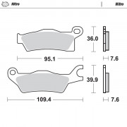 BRAKE PAD SINTER MX NITRO | Fabrikantcode: 98921 | Fabrikant: MOTO-MASTER | Cataloguscode: 1721-2124
