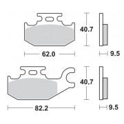 Remblokken CAN-AM 650 DS X 07 achteraan.