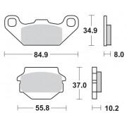 Remblokken KAWASAKI 250 KXF A1-A2 Tecate 87-88 vooraan.