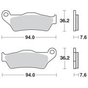 Remblokken GAS-GAS Quad HP 240/300 RV 03-06 achteraan.