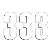 NUMBER 3 13X7CM WH| Artikelnr: 43100731