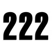 NUMBER 2 13X7CM BK| Artikelnr: 43100740
