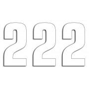 NUMBER 2 16X7.5CM WH| Artikelnr: 43100750