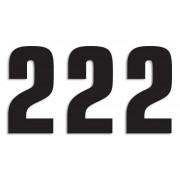 NUMBER 2 16X7.5CM BK| Artikelnr: 43100760