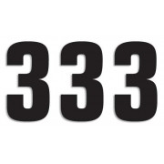 NUMBER 3 16X7.5CM BK| Artikelnr: 43100761