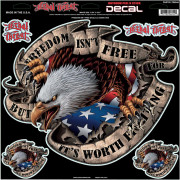 DECAL FREEDOM EAGLE LG | Fabrikantcode: LT06044 | Fabrikant: LETHAL THREAT | Cataloguscode: 4320-1248