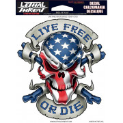 DECAL LIVE FREE OR DIE | Fabrikantcode: LT88061 | Fabrikant: LETHAL THREAT | Cataloguscode: 4320-1306