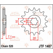 SPROCKET FRONT 10T 520 | Fabrikantcode: JTF1407.10 | Fabrikant: JT SPROCKETS | Cataloguscode: JTF1407-10