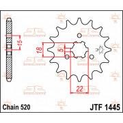 SPROCKET, C/S 11T   Fabrikantcode: JTF1445.11   Fabrikant: JT SPROCKETS   Cataloguscode: JTF1445-11