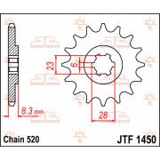 SPROCKET, C/S 13T | Fabrikantcode: JTF1450.13 | Fabrikant: JT SPROCKETS | Cataloguscode: JTF1450-13