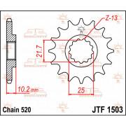 SPROCKET, C/S 12T | Fabrikantcode: JTF1503.12 | Fabrikant: JT SPROCKETS | Cataloguscode: JTF1503-12