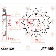 SPROCKET FRONT 13T 520 | Fabrikantcode: JTF1554.13 | Fabrikant: JT SPROCKETS | Cataloguscode: JTF1554-13