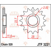 SPROCKET FRONT 13T 520 | Fabrikantcode: JTF3221.13 | Fabrikant: JT SPROCKETS | Cataloguscode: JTF3221-13