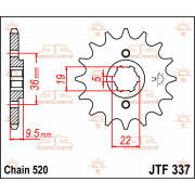 SPROCKET FRONT 14T 520 | Fabrikantcode: JTF337.14 | Fabrikant: JT SPROCKETS | Cataloguscode: JTF337-14