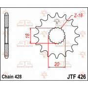 SPROCKET, C/S 12T | Fabrikantcode: JTF426.12 | Fabrikant: JT SPROCKETS | Cataloguscode: JTF426-12