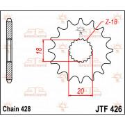SPROCKET FRONT 14T 428 | Fabrikantcode: JTF426.14 | Fabrikant: JT SPROCKETS | Cataloguscode: JTF426-14