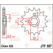 SPROCKET, C/S 13T | Fabrikantcode: JTF507.13 | Fabrikant: JT SPROCKETS | Cataloguscode: JTF507-13