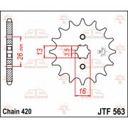 SPROCKET, C/S 12T | Fabrikantcode: JTF563.12 | Fabrikant: JT SPROCKETS | Cataloguscode: JTF563-12