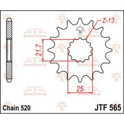 SPROCKET FRONT 16T 520   Fabrikantcode: JTF565.16   Fabrikant: JT SPROCKETS   Cataloguscode: JTF565-16