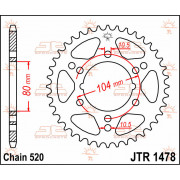 SPROCKET REAR 30T 520 | Fabrikantcode: JTR1478.30 | Fabrikant: JT SPROCKETS | Cataloguscode: JTR1478-30