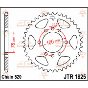 SPROCKET, RR 40T | Fabrikantcode: JTR1825.40 | Fabrikant: JT SPROCKETS | Cataloguscode: JTR1825-40